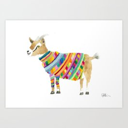 Goat in a Sweater Art Print
