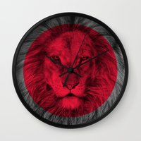 eric fan Wall Clocks featuring Wild 5 by Eric Fan & Garima Dhawan by Garima Dhawan