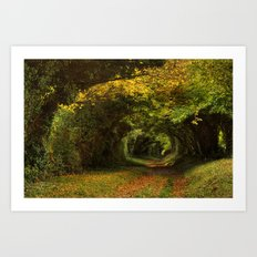 Leaf Your Troubles Behind Art Print