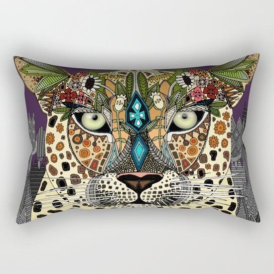 leopard queen Rectangular Pillow