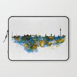 Berlin watercolor skyline Laptop Sleeve