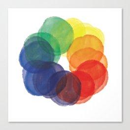 Watercolor Wheel Canvas Print