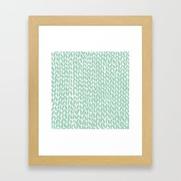 Hand Knit Zoom Mint Framed Art Print