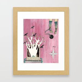 You Are Only Stuck If You Want to be Stuck Framed Art Print
