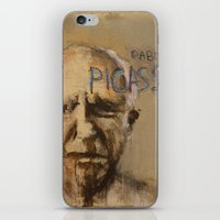 pablo picasso iPhone & iPod Skins featuring 50 Artists: Pablo Picasso by Chad Beroth