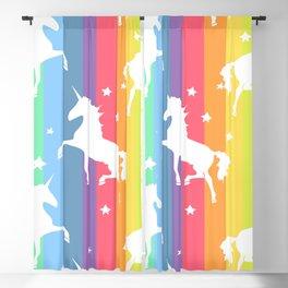 Rainbow Unicorns Blackout Curtain