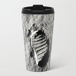 Boot Print on Moon Travel Mug