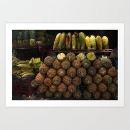 Guatemalan Market Pineapple Sale Art Print