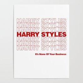 Harry Styles - Kiwi ('Thank You' bag style) Poster