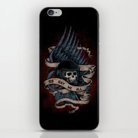 battlestar iPhone & iPod Skins featuring So Say We All by Justyna Dorsz