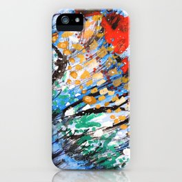 BUTTERFLY - Original abstract painting by HSIN LIN / HSIN LIN ART iPhone Case