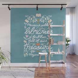 Virginia Woolf Library Literature Quote - Book Nerd Wall Mural