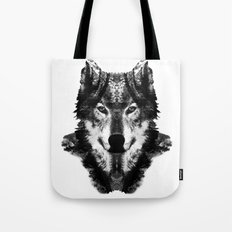 The Black Forest Wolf Tote Bag