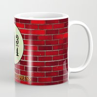 hogwarts Mugs featuring Hogwarts Express by kattie flynn