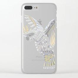 Geometric Cockatoo Clear iPhone Case