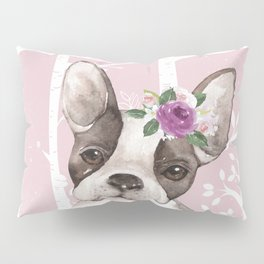 Animals in Forest - The little French Bulldog Pillow Sham