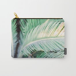Turquoise green palm trees in Ibiza | Travel wanderlust photography | colorful wall art Carry-All Pouch