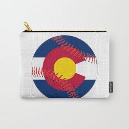 Colorado Flag Baseball Carry-All Pouch