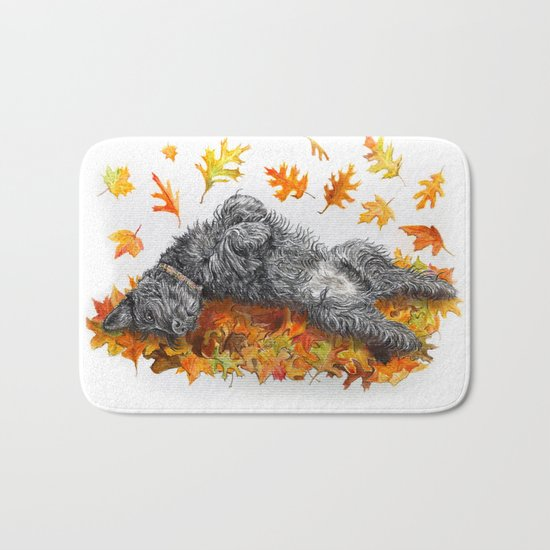 Scottie Dog Fall Fun Bath Mat