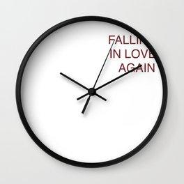 falling in love again (joyce manor) Wall Clock