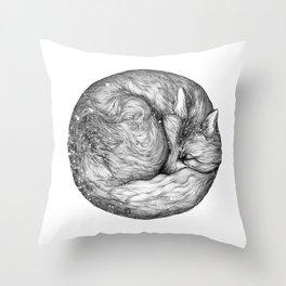 The Infinite Fox Throw Pillow