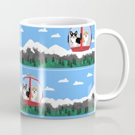 Gondola corgis telluride ski slopes custom dog Coffee Mug