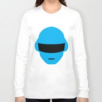 deadmau5 Long Sleeve T-shirts featuring Daft Punk Thomas Bangalter Helmet by Alli Vanes