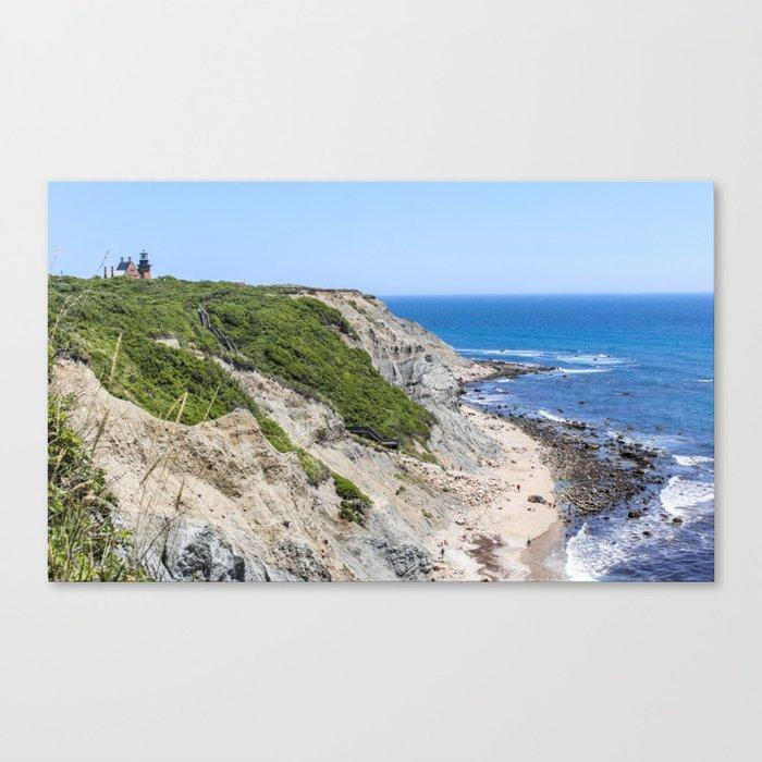 Block Island: Cliffs Of Block Island, Rhode Island Canvas Print By