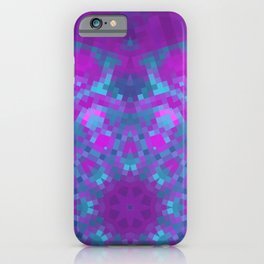 Pink, Purple, and Blue Pixels iPhone Case