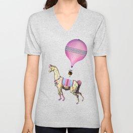 Flying Llama Unisex V-Neck