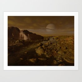 Methane River on Titan Art Print