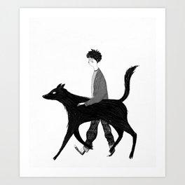 Harry and Sirius Art Print
