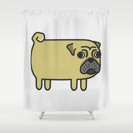 1# I like big pugs Shower Curtain