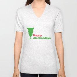Happy Alcoholidays Unisex V-Neck