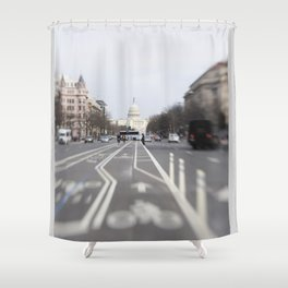 In the Streets of DC Shower Curtain