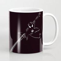 spider man Mugs featuring SPIDER MAN by MISTER BLACKWHITE