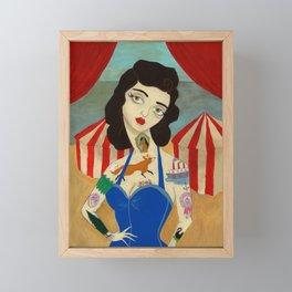 Tattooed Lady Framed Mini Art Print