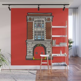 Ghostbusters Fire Station Wall Mural