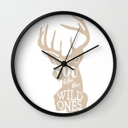 Heard You Like the Wild Ones Wall Clock