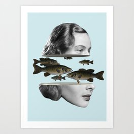 Fly with the fishes / Dreamer Art Print
