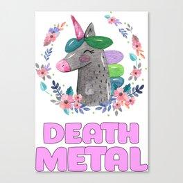 Unicorn Death Metal Canvas Print