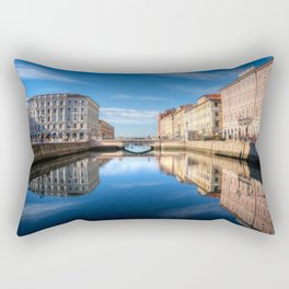 Sunny morning in Trieste, Italy. Rectangular Pillow