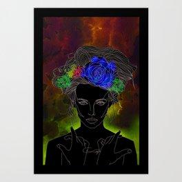 Flower Queen Art Print