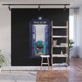 Tardis And Blue Monster Wall Mural