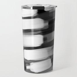 Racing City Lights - Black and White Travel Mug