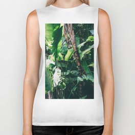 Tropical Green Jungle Forest Biker Tank