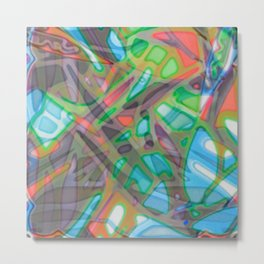 Colorful Abstract Stained Glass G299 Metal Print