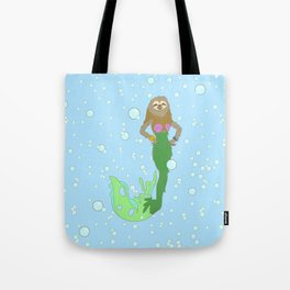 Sloth Mermaid Tote Bag
