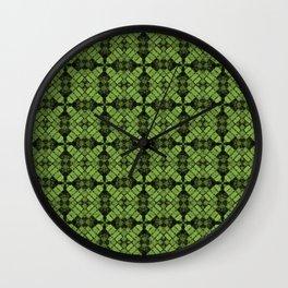 Greenery Quilt Wall Clock
