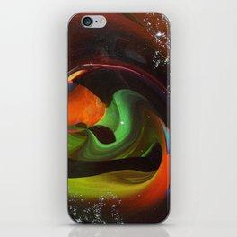 An Alien Orange iPhone Skin
